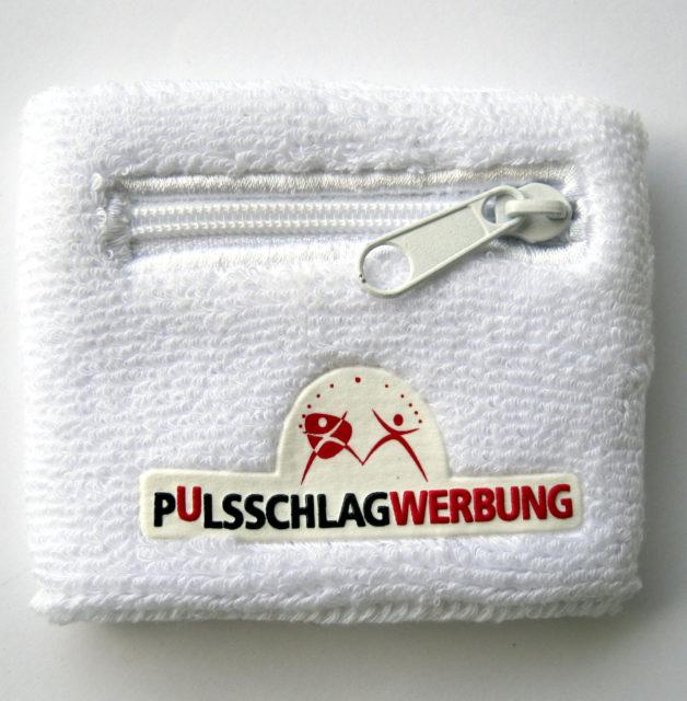 Schweissband Frottee mit Zipp