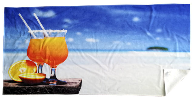 Frotteetuch Zwirnvelour mit Fotodruck