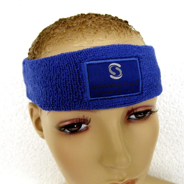 Stirnband Frottee mit Seidenlabel